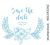 save the date card design....   Shutterstock .eps vector #401192242
