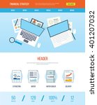 one page web design template... | Shutterstock .eps vector #401207032
