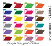 recycled paper folders | Shutterstock .eps vector #40120867