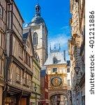 rouen  horloge  normandy  france | Shutterstock . vector #401211886
