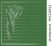 graphic flower  sketch of tulip ... | Shutterstock .eps vector #401218312