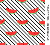 watermelon and diagonal line... | Shutterstock .eps vector #401222482