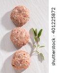 organic minced meat meatball... | Shutterstock . vector #401225872