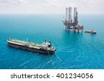 oil tanker and oil rig in the... | Shutterstock . vector #401234056