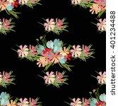 floral  flower cosmos crocus... | Shutterstock .eps vector #401234488