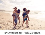two beautiful young couples... | Shutterstock . vector #401234806