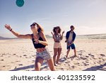 group of friends playing... | Shutterstock . vector #401235592