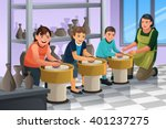 a vector illustration of group... | Shutterstock .eps vector #401237275