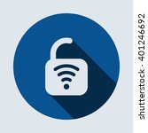 wifi icon isolated vector flat... | Shutterstock .eps vector #401246692
