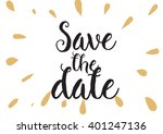save the date inscription....   Shutterstock .eps vector #401247136
