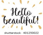 hello beautiful romantic... | Shutterstock .eps vector #401250022