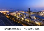 petrochemical industrial plant... | Shutterstock . vector #401250436