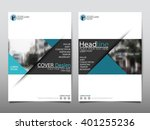 blue annual report brochure... | Shutterstock .eps vector #401255236