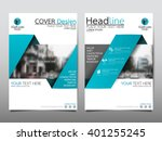 blue annual report brochure... | Shutterstock .eps vector #401255245