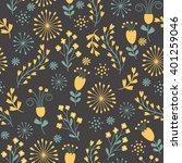 beautiful seamless floral... | Shutterstock .eps vector #401259046