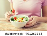 healthy eating  dieting and... | Shutterstock . vector #401261965