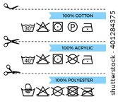 guide to laundry care symbols.... | Shutterstock .eps vector #401284375