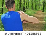 sport injury  man with shoulder ... | Shutterstock . vector #401286988