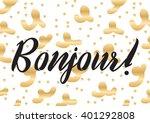 bonjour  hello  inscription....   Shutterstock .eps vector #401292808