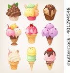 set of colorful tasty isolated... | Shutterstock .eps vector #401294548