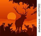 Elk In The Natural Environment...