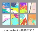 set of hand drawn universal... | Shutterstock .eps vector #401307916