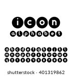 vector icons alphabet set.... | Shutterstock .eps vector #401319862