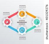 business infographics vector... | Shutterstock .eps vector #401329276