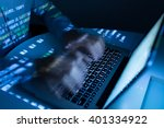 hands of coder typing very fast ... | Shutterstock . vector #401334922