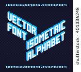 3d isometric alphabet font.... | Shutterstock .eps vector #401336248