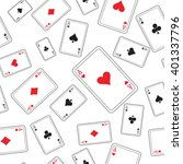 playing cards pattern   Shutterstock .eps vector #401337796