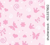 pattern baby girl   Shutterstock .eps vector #401337802
