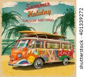 summer holidays poster with... | Shutterstock .eps vector #401339272