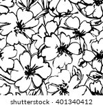 graphic flowers seamless...