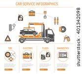 car service infographics set... | Shutterstock .eps vector #401342098