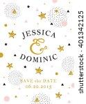 wedding invitation card. save... | Shutterstock .eps vector #401342125