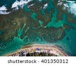 top view of porto de galinhas ... | Shutterstock . vector #401350312
