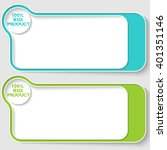 two vector text boxes for your... | Shutterstock .eps vector #401351146