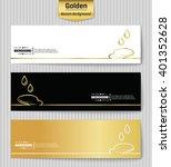 abstract creative concept gold... | Shutterstock .eps vector #401352628