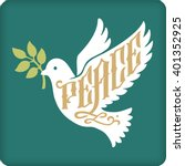 Peace Dove With Olive Branch...