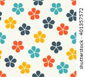 abstract floral seamless... | Shutterstock . vector #401357572