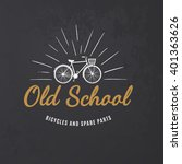 vintage road bicycle emblem on... | Shutterstock .eps vector #401363626