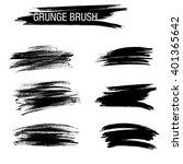 vector set of grunge brush... | Shutterstock .eps vector #401365642