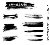 vector set of grunge brush... | Shutterstock .eps vector #401365675