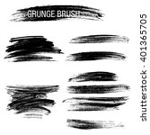 vector set of grunge brush... | Shutterstock .eps vector #401365705