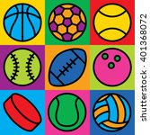 Colorful Generic Game Ball...