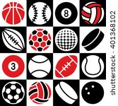 Generic Game Ball Icons On A...