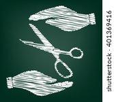 scissors sign scrible effect  | Shutterstock .eps vector #401369416