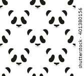 panda head seamless pattern.... | Shutterstock .eps vector #401380156