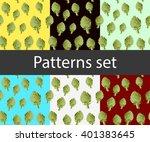 art artichoke back pattern set | Shutterstock .eps vector #401383645